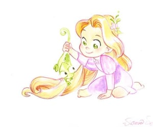 baby, disney, and rapunzel image