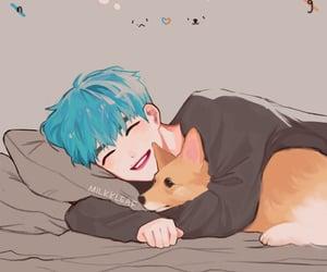 exo, fanart, and puppy image