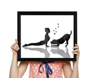 etsy, black watercolor, and yoga room decor image