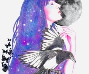 art, fantasy, and raven image