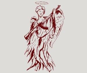angel, disaster, and gun image