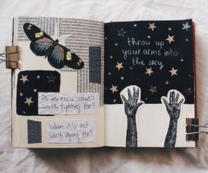 journal, art, and butterfly image