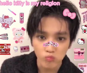 edit, pink, and sanrio image