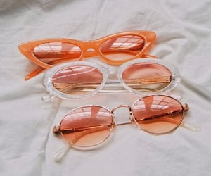 fashion, orange, and sunglasses image