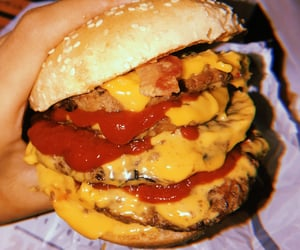 burger, burger king, and cheese image