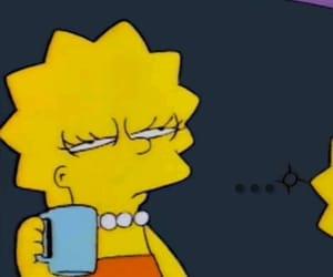 mood, simpsons, and coffee image