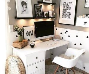 aesthetic, white aesthetic, and desk decor ideas image