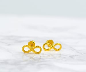 etsy, gold studs, and goldstuds image