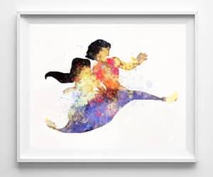 disney princess, disney poster, and watercolor art image