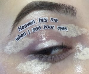 aesthetic, clouds, and makeup image