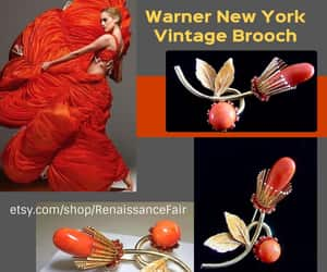 etsy, warner brooch, and warner new york image