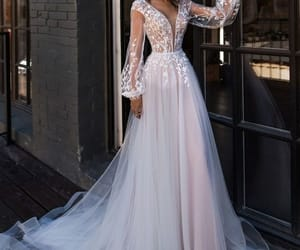 beautiful, fashion, and wedding image