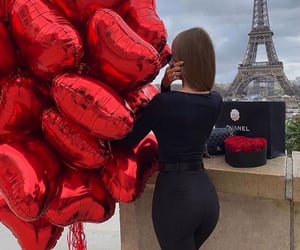 balloons, hearts, and romance image
