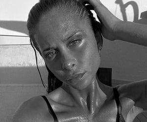 black & white, girls, and singer image