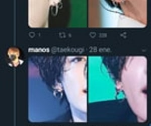 earrings, twitter, and bts jungkook image
