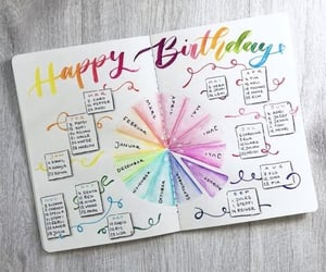 birthday, calendar, and diy image