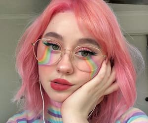 girl, pink hair, and aesthetic image