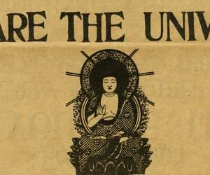 universe and Buddha image