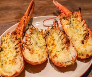 seafood, oven recipes, and grilled lobsters image