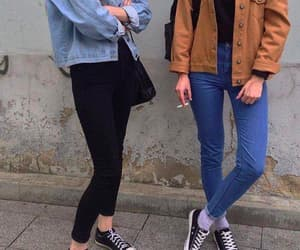 best friends, clothes, and girls image