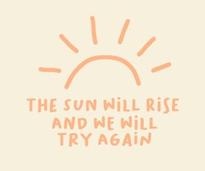 quote, sun, and wallpaper image