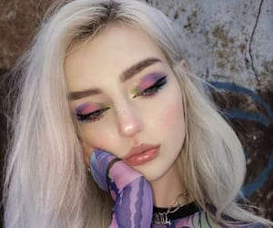 beauty, blonde hair, and cosmetics image