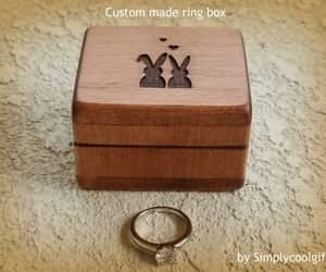 etsy, ring bearer pillow, and engagement ring box image