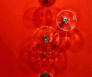 glass, wall, and red image