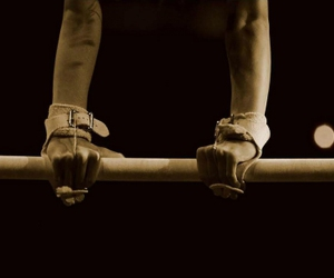 gymnastics, bars, and hands image