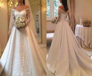 wedding gown, bridal dresses, and vestido de novia image