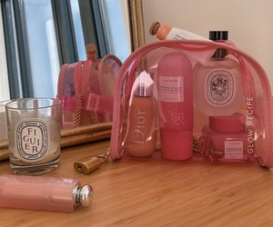 dior, pink, and skincare image