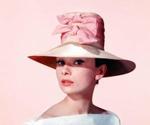 audrey hepburn, pink, and hat image