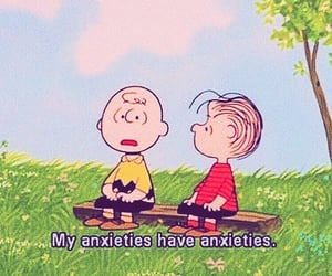 anxiety, charlie brown, and quote image
