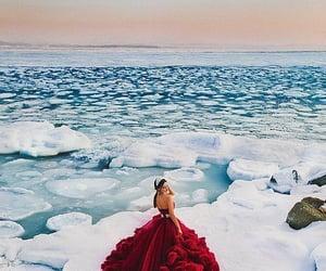 beauty, ice, and dress image