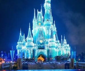 blue, castle, and light image