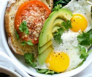 bowl, breakfast, and egg image