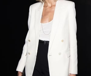 anja rubik, YSL, and pfw image