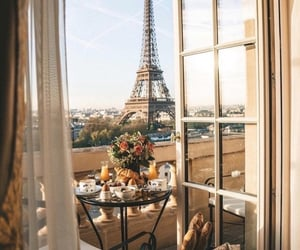 breakfast, classy, and eiffel tower image