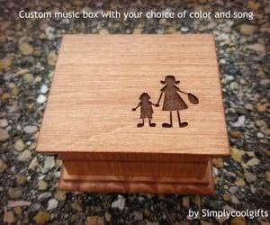 etsy, wooden music box, and customized music box image