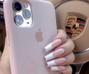 nails, porsche, and iphone image