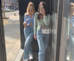 fashion, jeans, and blonde image