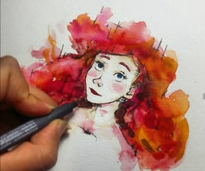 anime, watercolors, and ariel image