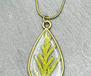 etsy, bridesmaid gift, and leaf pendant image