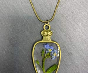 blue flower, flower necklace, and mothers day gift image