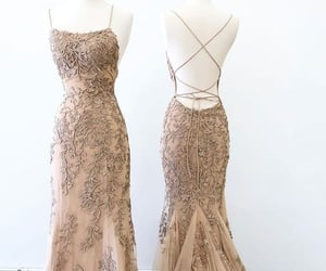 dress, evening gown, and women dress image