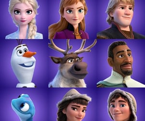 anna, disney, and olaf image