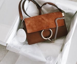 bag, brown, and chloe image