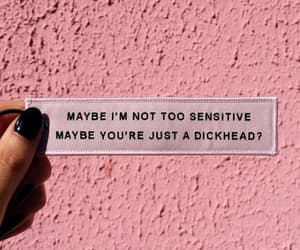 quotes, pink, and sensitive image