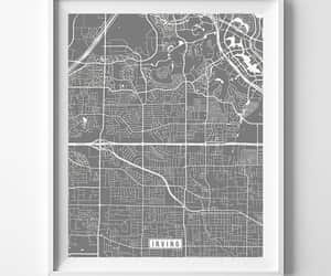 etsy, irving, and map print image