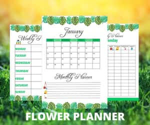 autumn, garden, and planner image